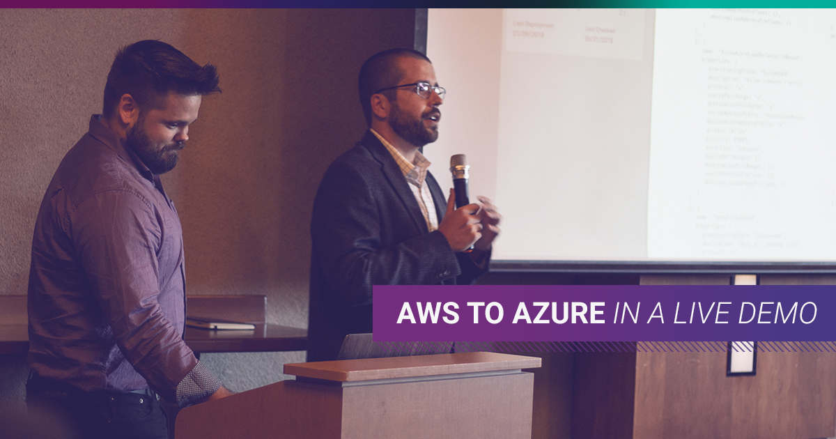 Migrating apps between AWS and Azure can be so simple you can even do it in a live demo